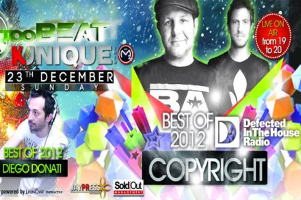 "Kunique ""RADIO SHOW"" (Radio M2O) December 23th-2012 On Air ""COPYRIGHT & Diego Donati"" Voice Mc Fago"