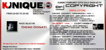 Kunique Too Beat Sunday February 03th 2013 Guest Copyright