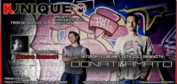 Kunique Too Beat Saturday February 16th Guest Donati&Amato