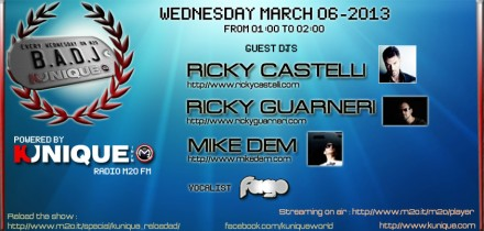 Kunique Badj on Radio M2O Wednesday March 06 On Air Ricky Castelli – Ricky Guarneri – Mike Dem