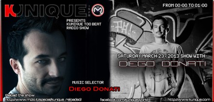 Kunique Too Beat (Radio M2O) Saturday March 23 On Air Diego Donati
