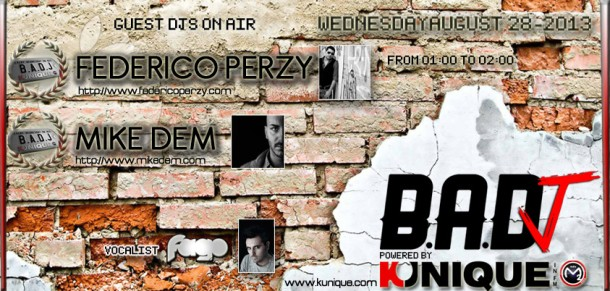 Kunique Badj Radio M20 August 28 On Air Federico Perzy & Mike Dem