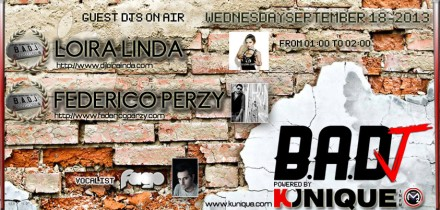 Kunique Badj Radio M2O Wednesday September 18 On Air Loira Linda & Federico Perzy