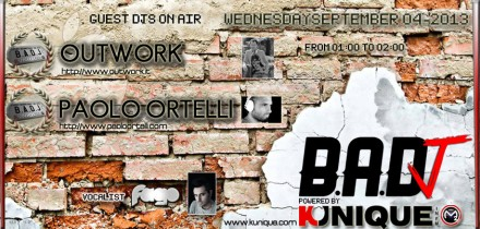 Kunique Badj Radio M20 wednesday September 04 On Air Outwork & Paolo Ortelli