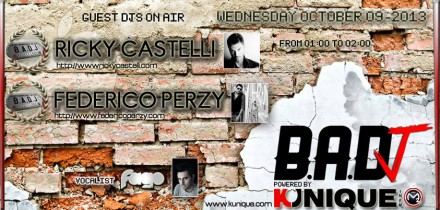 Kunique Badj Radio M2O Wednesday October 09 On Air Ricky Castelli & Federico Perzy