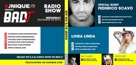 Kunique Badj Radio M2o Wednesday December 04 Special Guest On Air Federico Scavo & Loira Linda