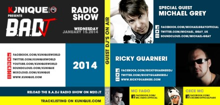 Kunique Badj Radio M2O Wednesday January 15 On Air Michael Gray & Ricky Guarneri