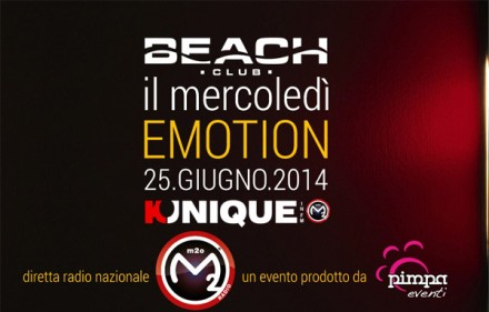 Kunique M2O Live From Beach Club Versilia Wednesday June 25 Guest Provenzano & Diego Donati