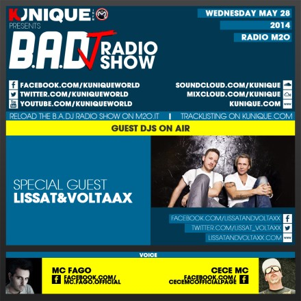 Kunique Badj Radio M2O Wednesday May 28 Guest On Air Lissat&Voltaxx