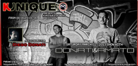 Kunique Too Beat Radio M2O Saturday March 02-2013 Guest Donati&Amato
