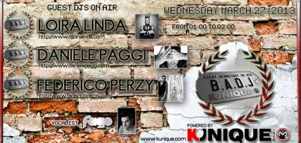 Kunique Badj On Radio M2O Wednesday March 27 On Air Loira Linda Daniele Paggi Federico Perzy