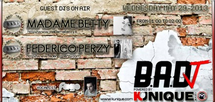 Kunique Badj (Radio M2O) Wednesday May 29 On Air Madame Betty & Federico Perzy