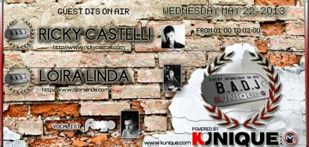 Kunique Badj (Radio M2O) Wednesday May 22 On Air Ricky Castelli & Loira Linda