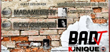 Kunique Badj Radio M2O Wednesday August 21 On Air Madame Betty & Ricky Guarneri