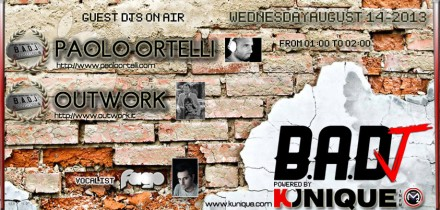 Kunique Badj Radio M2o Wednesday August 14 on Air Paolo Ortelli & Outwork