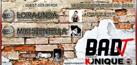 Kunique Badj Radio M2O Wednesday August 07 On Air Loira Linda & Miki Stentella