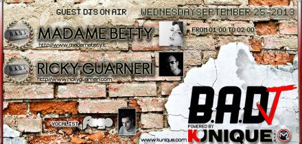 Kunique Badj Radio M2o Wednesday September 25 On Air Madame Betty & Ricky Guarneri