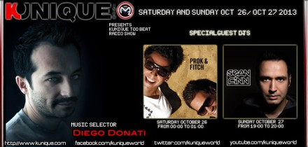 Kunique Too Beat Radio M2O Saturday & Sunday October 26/27 Special Guest Prok&Fitch & Sean Finn