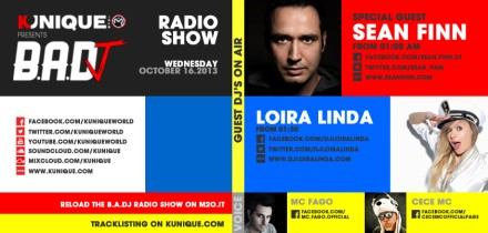 Kunique Badj Radio M2O Wednesday October 16 Special Guest On Air : Sean Finn & Loira Linda