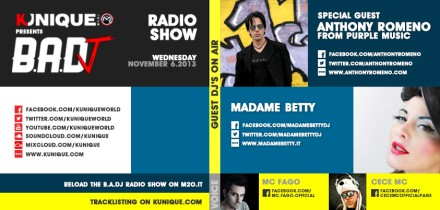 Kunique Badj Radio M2o Wednesday November 06 Special Guest Anthony Romeno & Madame Betty