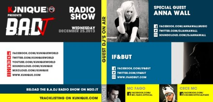 Kunique Badj Radio M2O Wednesday December 25 Special Guest Anna Wall & IF&BUT