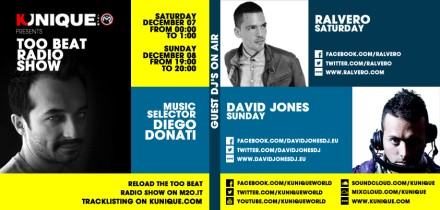 Kunique Too Beat Radio M2O Saturday&Sunday December 07/08 Special Guest Ralvero & David Jones