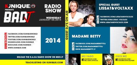 Kunique Badj Radio M2O Wednesday January 08 Special Guest Lissat&Voltaxx & Madame Betty