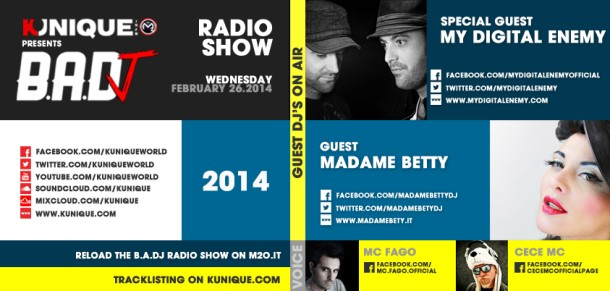 Kunique Badj Radio M2O Wednesday February 26 On Air MY Digital Enemy & Madame Betty