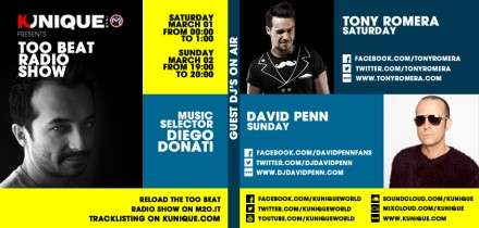 Kunique Too Beat Radio M2O Saturday & Sunday March 01/02 Special Guest On Air Tony Romera & David Penn