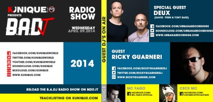 Kunique Badj Radio M2O Wednesday April 09 Special Guest On Air Deux & Ricky Guarneri
